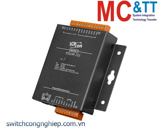 PDSM-721 CR: Bộ chuyển đổi tín hiệu 1 cổng RS-232 +1 cổng RS-485 sang Ethernet ICP DAS