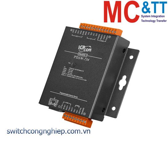 PDSM-734 CR: Bộ chuyển đổi tín hiệu 1 cổng RS-232 +1 cổng RS-485+1 cổng RS-422/485 sang Ethernet ICP DAS