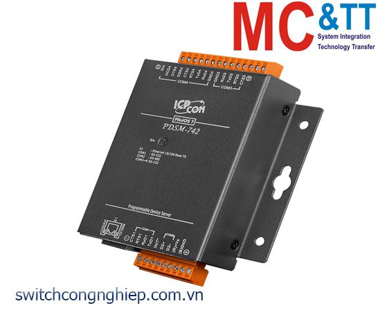 PDSM-742 CR: Bộ chuyển đổi tín hiệu 3 cổng RS-232 +1 cổng RS-485 sang Ethernet ICP DAS