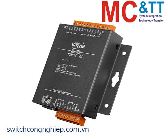 PDSM-743 CR: Bộ chuyển đổi tín hiệu 3 cổng RS-232 +1 cổng RS-485 sang Ethernet ICP DAS
