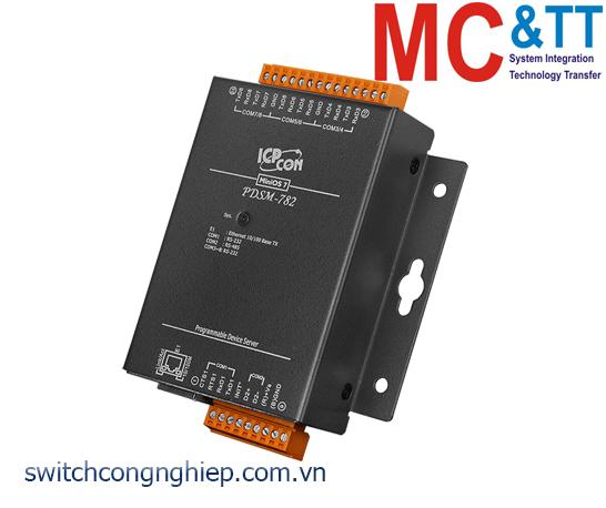 PDSM-762 CR: Bộ chuyển đổi tín hiệu 5 cổng RS-232 +1 cổng RS-485 sang Ethernet ICP DAS