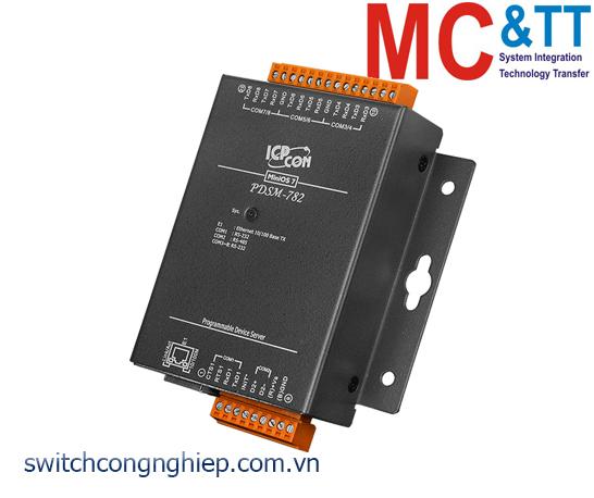 PDSM-782 CR: Bộ chuyển đổi tín hiệu 7 cổng RS-232 +1 cổng RS-485 sang Ethernet ICP DAS