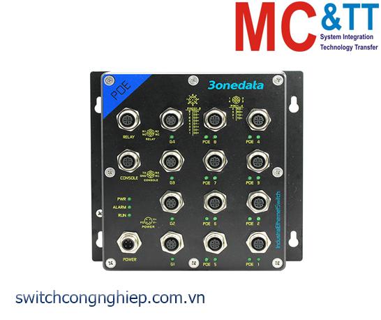 TNS5500D-4GT-8POE: Switch công nghiệp quản lý EN50155 4 cổng Gigabit M12, 8 cổng PoE M12 100M