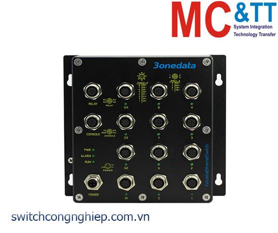 TNS5500D-4GT-8T: Switch công nghiệp quản lý EN50155 4 cổng Gigabit M12, 8 cổng M12 100M