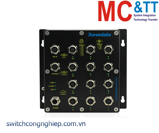 TNS5800D-4GT-8T: Switch công nghiệp quản lý layer 3 EN50155 4 cổng Gigabit M12, 8 cổng M12 100M