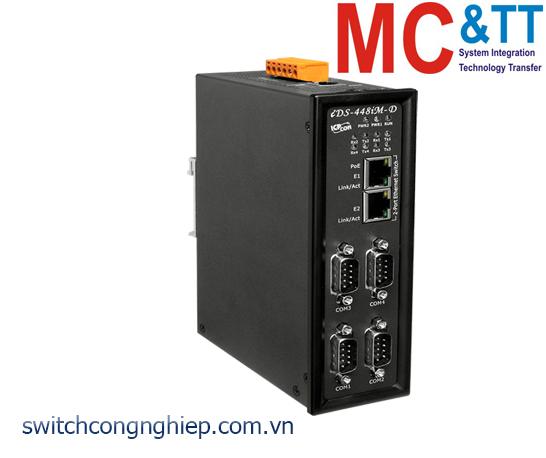 iDS-448iM-D CR: Bộ chuyển đổi tín hiệu 4 cổng RS-232/422/485 sang 2 cổng Ethernet ICP DAS