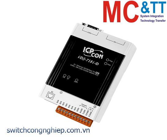 iDS-718i-D CR: Bộ chuyển đổi tín hiệu 1 cổng RS-232/422/485 sang 1 cổng Ethernet ICP DAS