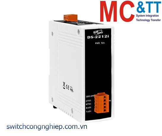 DS-2212i CR: Bộ chuyển đổi tín hiệu 1 cổng RS-232 cách ly+2 cổng Ethernet switch ICP DAS