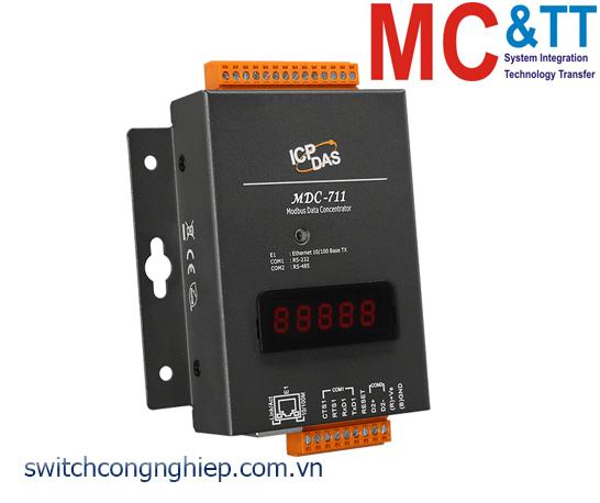MDC-711: Bộ tập trung dữ liệu Modbus với 1 cổng RS-232+1 cổng RS-485 +1 cổng Ethernet ICP DAS