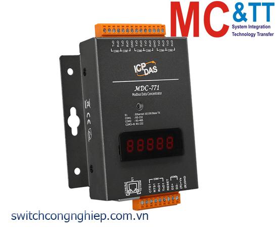 MDC-771: Bộ tập trung dữ liệu Modbus với 7 cổng RS-232+ 1 cổng RS-485 +1 cổng Ethernet ICP DAS