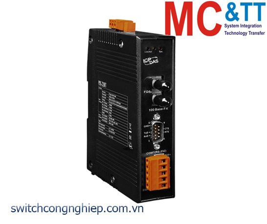 PDS-220FT CR: Bộ chuyển đổi tín hiệu 1 cổng RS-232+ 1 cổng RS-422/485 sang Ethernet ICP DAS