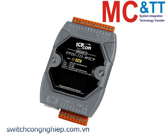PPDS-721-MTCP CR: Bộ chuyển đổi tín hiệu 1 cổng RS-232 +1 cổng RS-485 sang Ethernet với PoE ICP DAS