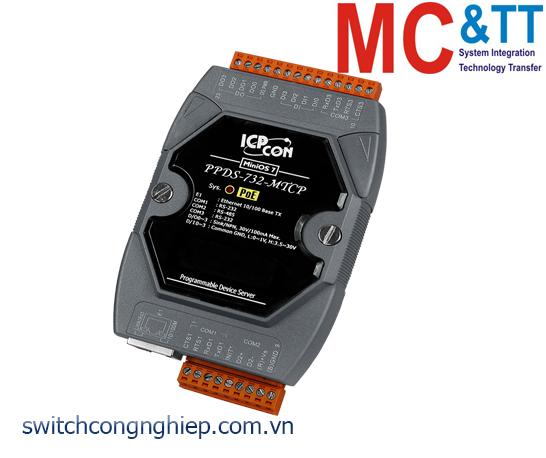 PPDS-732-MTCP CR: Bộ chuyển đổi tín hiệu 2 cổng RS-232 +1 cổng RS-485 sang Ethernet với PoE ICP DAS