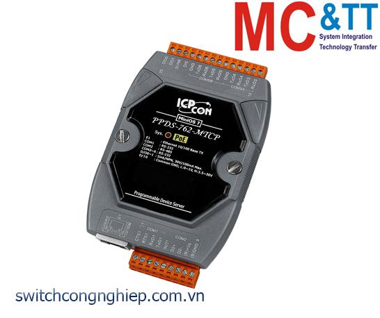 PPDSM-762-MTCP CR: Bộ chuyển đổi tín hiệu 5 cổng RS-232 +1 cổng RS-485 sang Ethernet với PoE ICP DAS