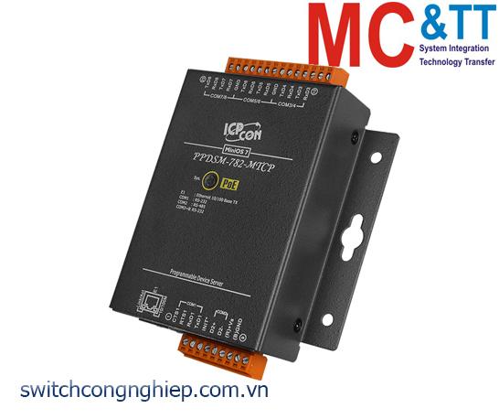PPDSM-782-MTCP CR: Bộ chuyển đổi tín hiệu 7 cổng RS-232 +1 cổng RS-485 sang Ethernet với PoE ICP DAS