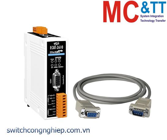 ECAT-2610 CR: Bộ chuyển đổi gateway EtherCAT Slave sang Modbus RTU Master ICP DAS