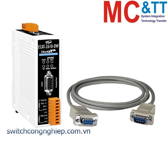 ECAT-2610-DW CR: Bộ chuyển đổi gateway EtherCAT sang Modbus RTU và đồng hồ đo điện ICP DAS