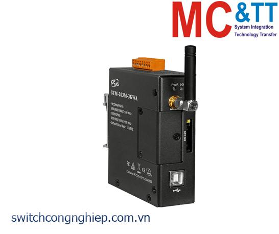 GTM-203M-3GWA: Modem WCDMA (3G) công nghiệp giao diện RS-232/USB