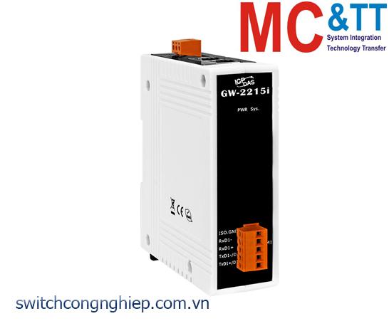GW-2215i CR: Bộ Gateway Modbus/TCP sang RTU/ASCII với 2 cổng Ethernet switch và 1 cổng cách ly RS-422/485 ICP DAS