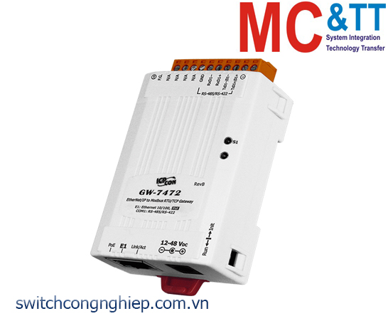 GW-7472 CR: Bộ chuyển đổi gateway EtherNet/IP sang Modbus RTU/TCP ICP DAS