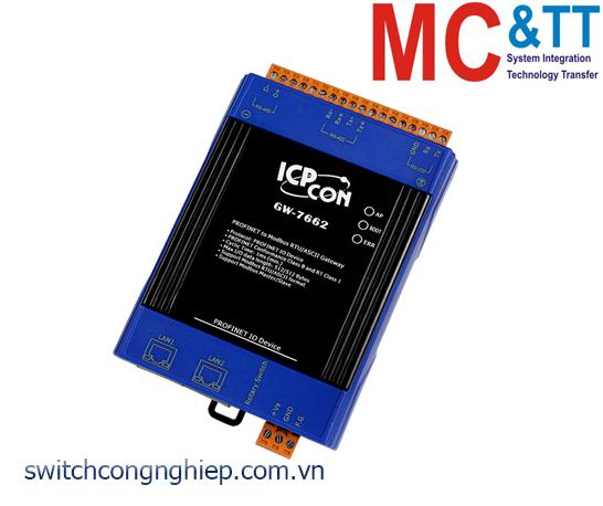 GW-7662 CR: Bộ chuyển đổi gateway PROFINET sang Modbus RTU/ASCII ICP DAS
