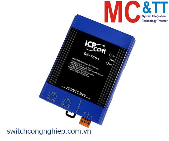 GW-7663 CR: Bộ chuyển đổi gateway PROFINET sang Modbus TCP ICP DAS