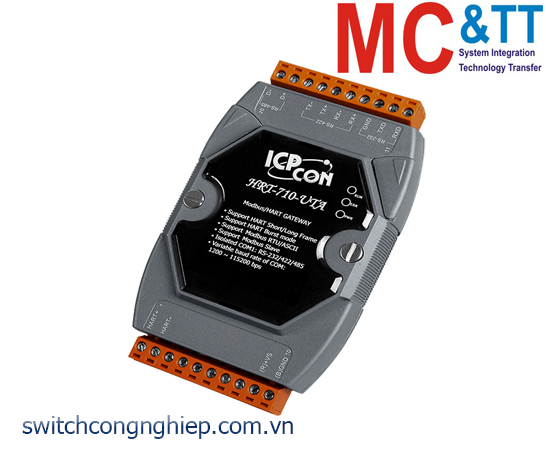 HRT-710-UTA CR: Bộ chuyển đổi gateway Modbus RTU/ASCII sang HART ICP DAS