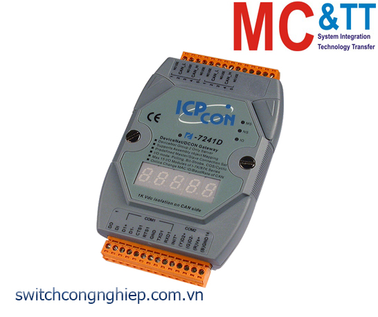 I-7241D-G CR: Bộ chuyển đổi gateway DeviceNet Slave sang DCON Master ICP DAS