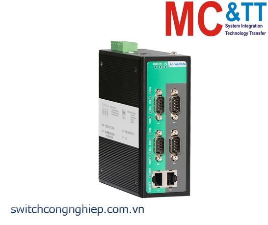 IGW1114-4DI(3IN1): Modbus Gateway 4 cổng RS-232/485/422 sang 2 cổng Ethernet
