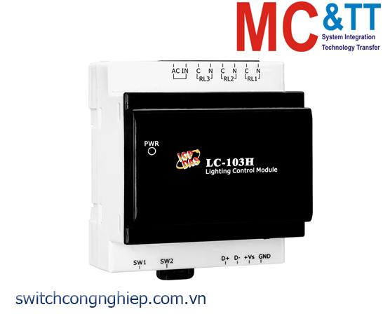 LC-103H CR: Module điều khiển ánh sáng 1 kênh đầu vào số AC+ 3 kênh đầu ra Relay ICP DAS