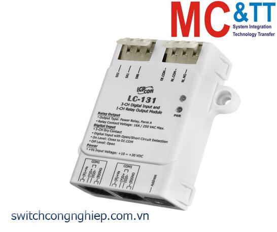LC-131 CR: Module 3 kênh đầu vào số với đầu dò mở/ngắn và một kênh đầu ra Relay ICP DAS