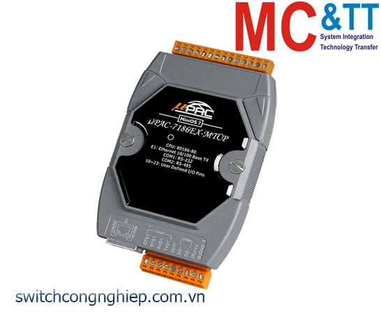 uPAC-7186EX-MTCP-G CR: Bộ lập trình Gateway Modbus với CPU 80186-80 và chương trình Modbus ICP DAS (màu xám)