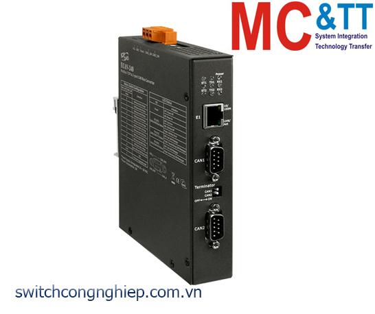 ECAN-240: Bộ chuyển đổi cổng Modbus sang 2 cổng CAN FD Bus ICP DAS