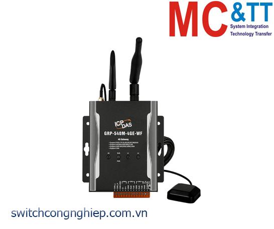 GRP-540M-4GE-WF: Router công nghiệp 4G tích hợp Wifi + GPS ICP DAS