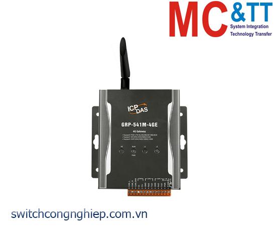 GRP-541M-4GE: Router công nghiệp Dual SIM 4G tích hợp GPS ICP DAS