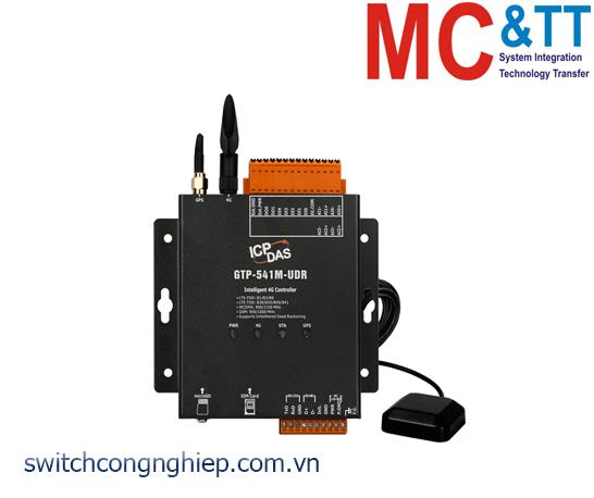 GTP-541M-UDR: Modem 4G RTU đa chức năng tích hợp GPS UDR + 5 DI + 2 DO + 4 AI ICP DAS
