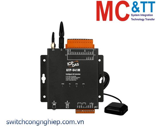 GTP-541M: Modem 4G RTU đa chức năng tích hợp GPS + 5 DI + 2 DO + 4 AI ICP DAS