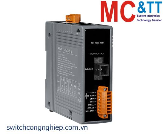 I-2533CS-A CR: Bộ chuyển đổi tín hiệu CAN sang quang Single-mode ICP DAS