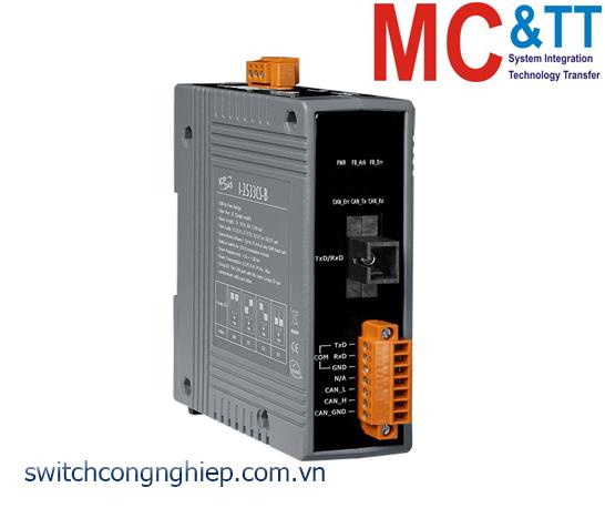 I-2533CS-B CR: Bộ chuyển đổi tín hiệu CAN sang quang Single-mode ICP DAS