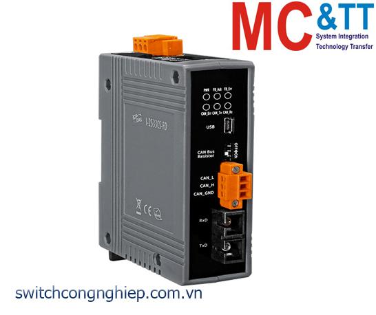 I-2533CS-FD CR: Bộ chuyển đổi tín hiệu CAN/CAN FD sang quang Single-mode ICP DAS