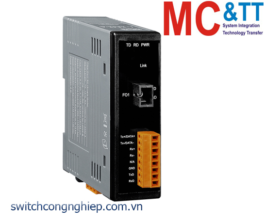 I-2542-A CR: Bộ chuyển đổi tín hiệu RS-232/422/485 sang quang Single-Mode 15 Km, SC TX 1310 nm, RX 1550 nm ICP DAS