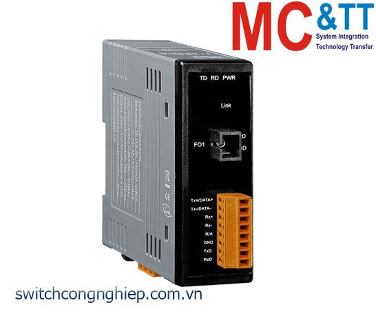 I-2542-B CR: Bộ chuyển đổi tín hiệu RS-232/422/485 sang quang Single-Mode 15 Km, SC TX RX 1310 nm 1550 nm ICP DAS