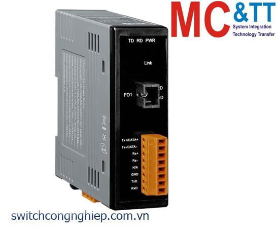 I-2542-B25 CR: Bộ chuyển đổi tín hiệu RS-232/422/485 sang quang Single-Mode 25 Km TX 1550 nm, RX 1310 nm ICP DAS