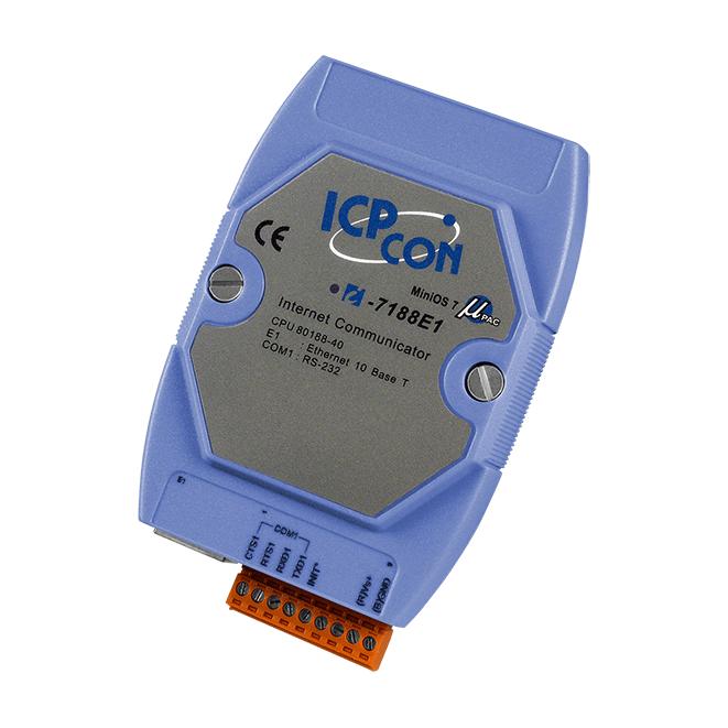 I-7188E1 CR: Bộ chuyển đổi lập trình Ethernet sang 1 cổng RS-232 ICP DAS