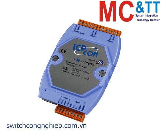 I-7188E5-485 CR: Bộ chuyển đổi lập trình Ethernet sang 1 cổng RS-232+4 cổng RS-485 ICP DAS
