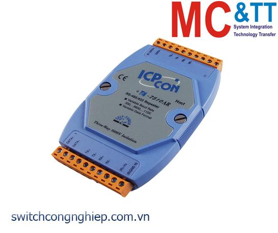I-7510AR CR: Bộ chuyển đổi lặp tín hiệu RS-422/485 cách ly 3 chiều ICP DAS