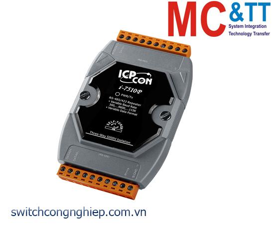 I-7510P-G CR: Bộ lặp tín hiệu RS-485 cách ly 3 chiều 5kV ICP DAS