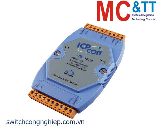 I-7513 CR: Bộ kết nối tập trung Hub active đấu dây hình sao RS-485 cách ly 3 chiều ICP DAS