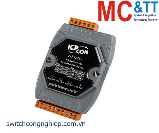 I-7514U-G CR: Bộ Lặp/chia/Hub 4 kênh RS-485 cách ly ICP DAS
