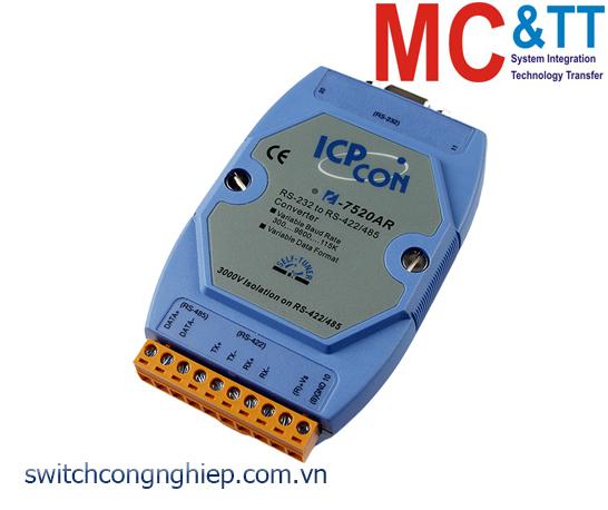 I-7520AR CR: Bộ chuyển đổi tín hiệu RS-232 sang RS-485/422 cách ly ICP DAS